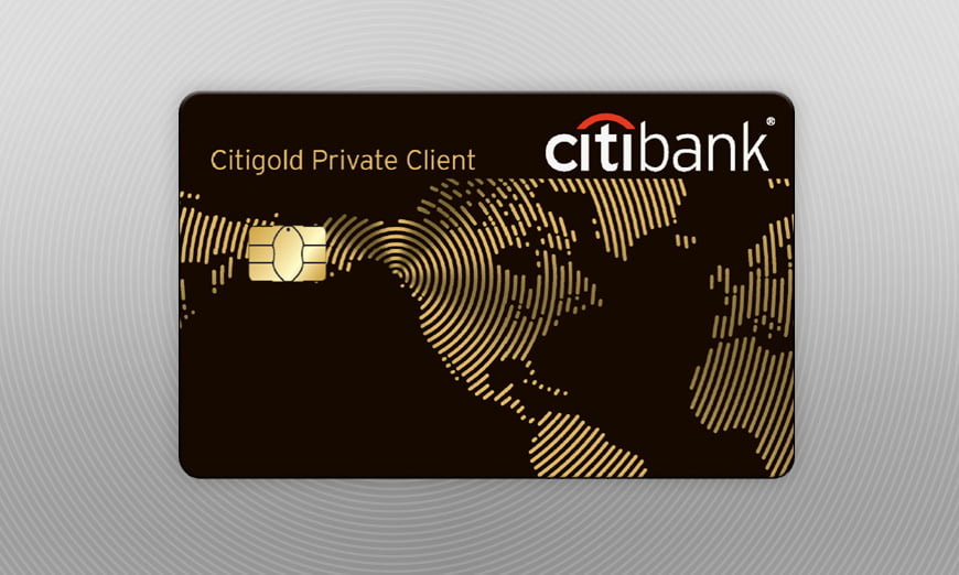 citigold private client bank card